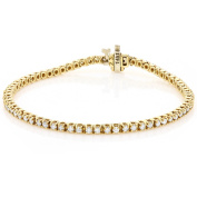 Luxurman 14k Gold 2 1/5ct TDW Diamond Tennis Bracelet