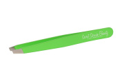 "Fluorescent ""Apple Green"" Angle Tip Italian Tweezers"