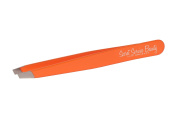 Fluorescent Orange Angle Tip Italian Tweezers