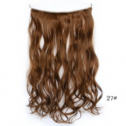 Lola Hair Curly Full Head Clip In Synthetic Hair Extensions 140G Silver Grey