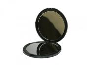 Makeup Pocket Mirror with 10x Magnification Glass Plus Plain Mirror
