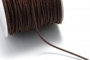 2 x Spools of 48ft (14.6m) (16 yards) 1mm Elastic Cords in Brown, Stretchable Cord, Spooled. About 96ft (29m) (32 yards) in Total #SD-S7392