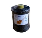 RaanPahMuang Roll of Waxed String for Crafts Bracelets Necklaces Beadwork 450gms, Black