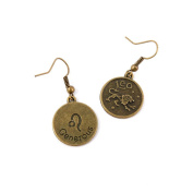 2 Pairs Earring Jewellery Making Charms Antique Bronze Findings Hooks Supplies Wholesale Supply Handmade S0ZV1 Leo