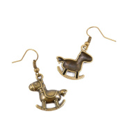 1 Pair Earring Jewellery Making Charms Antique Bronze Findings Hooks Supplies Wholesale Supply Handmade U5FF6 Rocking Horse