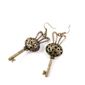 1 Pair Earring Jewellery Making Charms Antique Bronze Findings Hooks Supplies Wholesale Supply Handmade M6XV6 Hollow Rabbit Key