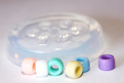 Clear-silicone European style beads Moulds,8*8*6mm Diameter of the inner hole 4mm.