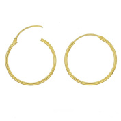 Sterling Silver Top Hinged Sleeper Endless Hoop Earrings Conncetor 1.2x20mm, 18kt Gold Plated