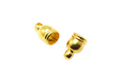 30pcs Mini Brass Tassel Caps in Gold, 4mm Interior, Cone, Hemisphere. Jewellery Findings Supplies #SD-S7188