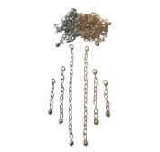 Necklace-Bracelet 2.5cm 5.1cm 10cm Extenders 36 Silver & Gold Tone ~ 6 Pieces Each Colour