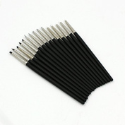 Raih Set of 15 Flexible Silicone Clay Sculpture Colour Shapers Tools Brushes Size 0 White/Black/Grey Tips