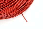 16ft (4.87m) (5.33 yards) 1mm Leather Cord in Red, Round Genuine Leather Cord. Great Cord Supplies for your Jewellery Projects #SD-S7259