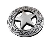 Screw Eye - Steel Western Biker Vintage Texas Star Metal Coin Concho Button Screw Back