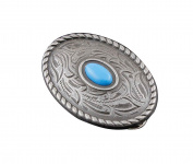 Screw Eye - Steel Western Biker Vintage Turquoise Metal Ellipses Concho Button Screw Back #3