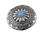 Screw Eye - Steel Western Vintage Turquoise Metal Round Concho Button Screw Back