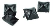 Black 1.3cm Pyramid Stud Punk Goth Craft Rivet DYI