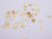Crystal of gauze and workshop metal parts snow (about 5.4x5.4mm) about 50 Gold watermark Parts Art Parts embedded enclosed materials handicraft supplies resin material goods nail