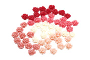 Gauze and workshop Flower cabochon rose about 50 10mm 5 colour set 1cm 1 one hole flower flower hole with parts through handmade craft supplies accessory parts
