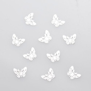 Metal parts [10 sheets butterfly silver silver] Nail butterfly handmade Art Parts Accessories Deco resin powder trading