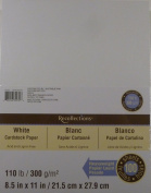 Recollections White Heavyweight Cardstock Paper, 22cm X 28cm - 100 Sheets