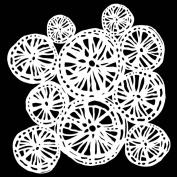 15cm x 15cm Deconstructed Della Robbia Cluster Stencil by Tracie Bautista