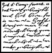 15cm x 15cm Rembrandt's Words Small Stencil by Carolyn Dube