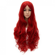 """32"""" 80cm Women Wig Heat Resistant Long Curly Hair Cosplay Party Costume Wig No Bangs"""