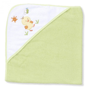Spasilk 100% Cotton Hooded Terry Bath Towel, Green Duck