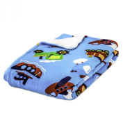 Cosy Fleece Super-Soft Micro Mink Baby Blanket- Transporation Icons