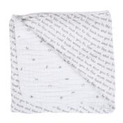 Bebe au Lait Premium Muslin Snuggle Blanket, Love and Luna