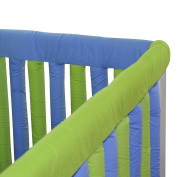 Go Mama Go Designs' Set of Lime & Perwinkle 80cm x 15cm Reversible Teething Guard