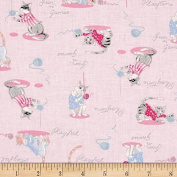 1 Yard - Playful Cats & Kittens on Pink Cotton Fabric (Great for Quilting, Sewing, Craft Projects, Quilt, Throw Pillows, Dog Bandana & More) 1 Yard X 110cm