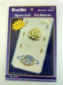 "Bucilla ""Daisy Basket"" Multi Colour Dresser Scarf 63222 [Special Edition]"