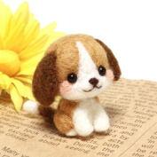 CHICVITA Diy Needlecraft Needle Felting Character Kits:Beagle
