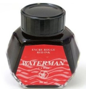 Sanford Waterman Fountain Pen Ink, 50 ml Bottle, Audacious Red