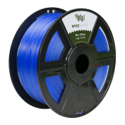 WYZworks PLA 1.75mm [ TRANSLUCENT BLUE ] Premium Thermoplastic Polylactic Acid 3D Printer Filament - Dimensional Accuracy +/- 0.05mm 1kg / 2.2lb + [ Multiple Colour Options Available ]