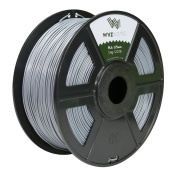 WYZworks PLA 1.75mm [ LIGHT GREY ] Premium Thermoplastic Polylactic Acid 3D Printer Filament - Dimensional Accuracy +/- 0.05mm 1kg / 2.2lb + [ Multiple Colour Options Available ]