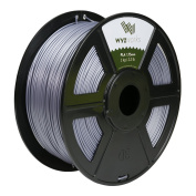 WYZworks PLA 1.75mm [ SILVER ] Premium Thermoplastic Polylactic Acid 3D Printer Filament - Dimensional Accuracy +/- 0.05mm 1kg / 2.2lb + [ Multiple Colour Options Available ]