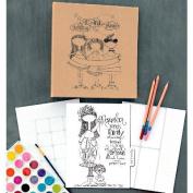 ArtPlay Kraft 3-Ring Binder Planner 20cm x 25cm -Calendar Girls
