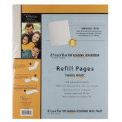 C.R. Gibson Scrapbook Top Loading Refill Pages - 22cm . X 28cm .