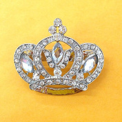 Vintage inspired crown pin / brooch 37mm x 43mm use for wedding bouquet . Bridal sash , embellishment , wedding favour