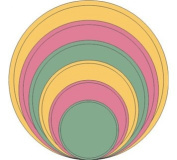 Cheery Lynn Designs XL4 Circle Classic Stackers Scrapbooking Die Cut, Large