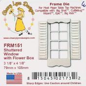 Cheery Lynn Designs FRM151 Shuttered Window with Flower Box Scrapbooking Die Cut
