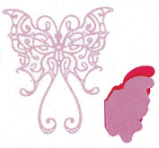 Cheery Lynn Designs DL161 Lace Faerie Queen with Angel Wing Scrapbooking Die Cut, Small