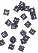 Blue Fabric Alphabet Letter Embellishments