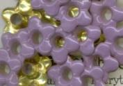 Large Lilac Flower Eyelets - Set of 25