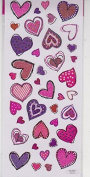 Large Valentine Doodle Hearts Stickers