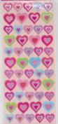 Dimensional Multi Colour Heart Stickers - 50pc