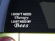 Bees Therapy *J049* 15cm beekeeping Sticker decal