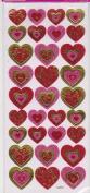 Glitter Flourish Heart Stickers